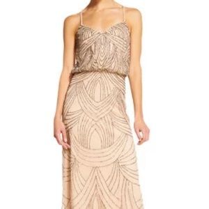 Adrianna Papell Beaded Chiffon Blouson Dress